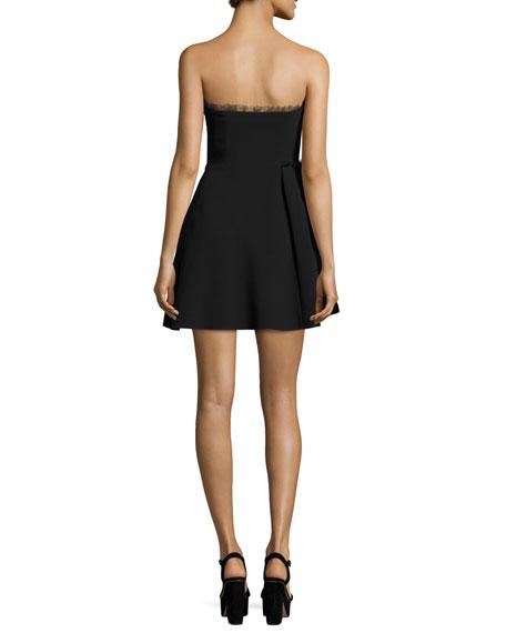Ruby Strapless Mini Dress, Black