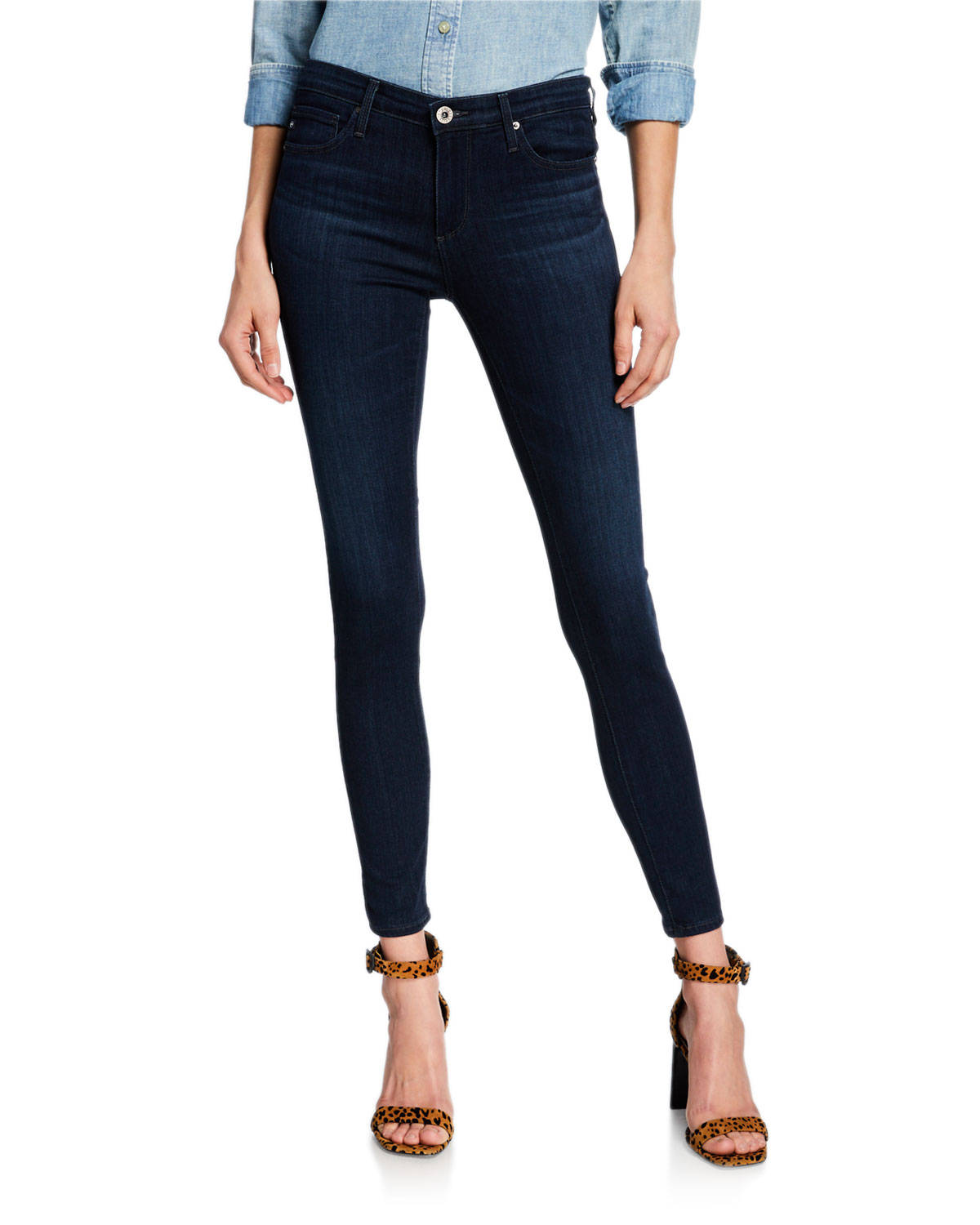 a782f6dfd AG Adriano Goldschmied The Legging Ankle Jeans, Coal Gray | Neiman ...