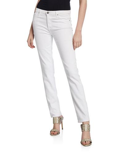 Prima Mid-Rise Cigarette Jeans  White
