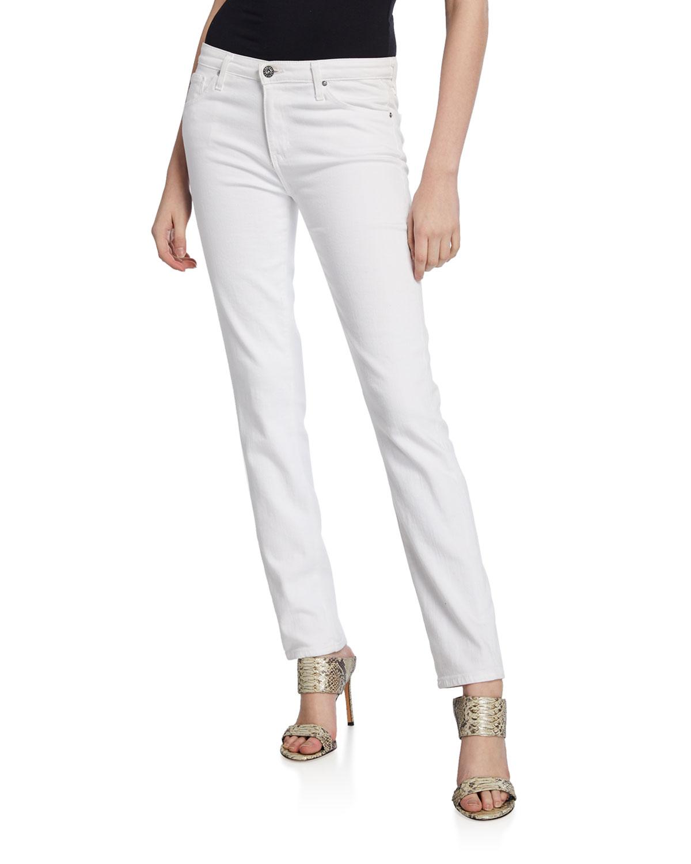 ebaa4a8623 AG Adriano Goldschmied Prima Mid-Rise Cigarette Jeans, White ...