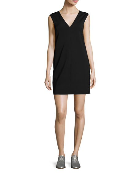 Rag & Bone Alma V-Neck Shift Dress, Black