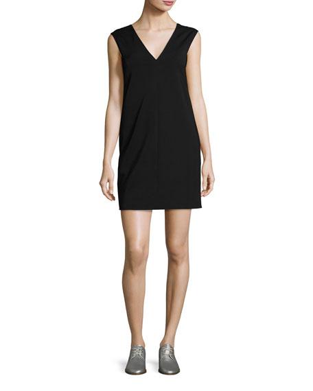 Rag & Bone Alma V-Neck Shift Dress, Black