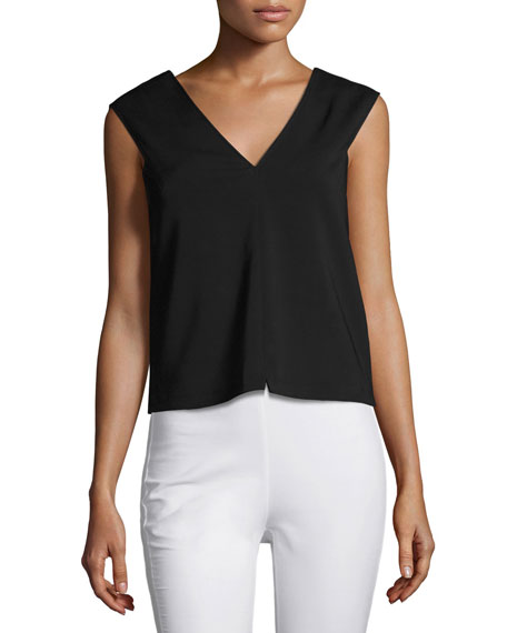 Alma V-Neck Sleeveless Shell