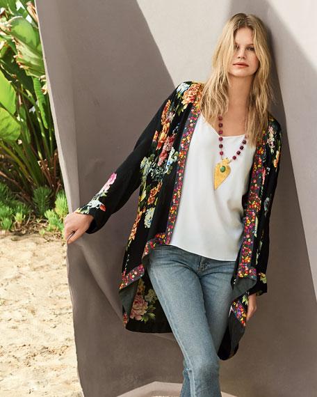 Jazzy Kimono-Style Printed Jacket
