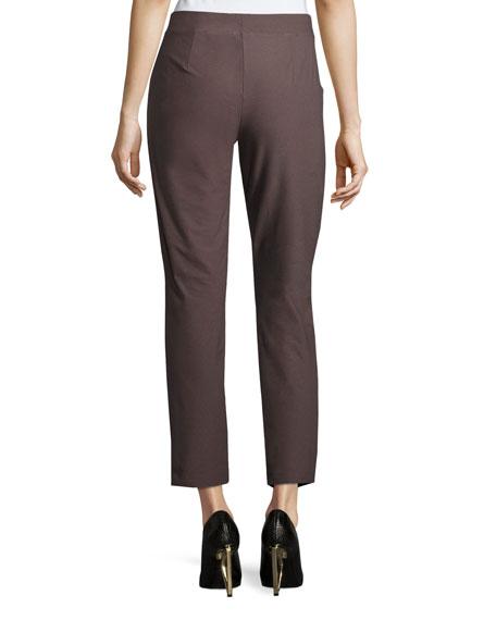 Washable Stretch Crepe Ankle Pants, Plus Size