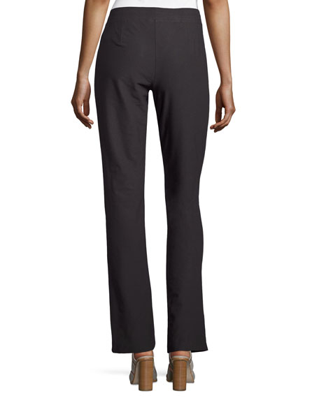 Plus Size Washable Stretch-Crepe Boot-Cut Pants