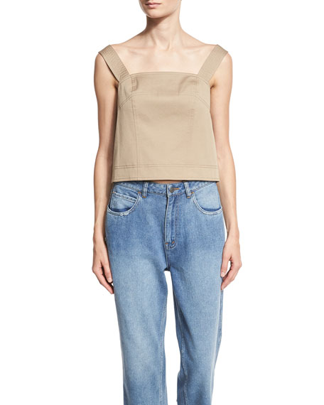 Robert Rodriguez Sleeveless Open-Back Top, Tan