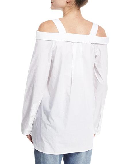 Cold-Shoulder Oversized Shirt Tunic