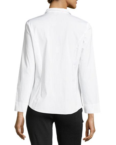 Long-Sleeve Stretch-Cotton Shirt