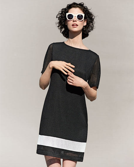 Rochelle Sheath Border-Stripe Dress