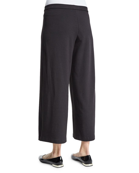 Easy Wide-Leg Ankle Pants, Plus Size