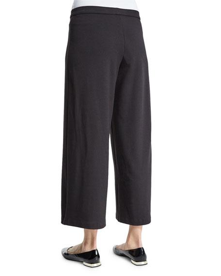 Easy Wide-Leg Ankle Pants, Plus Size