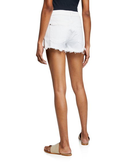 7 For All Mankind Cutoff Jean Shorts, Clean White