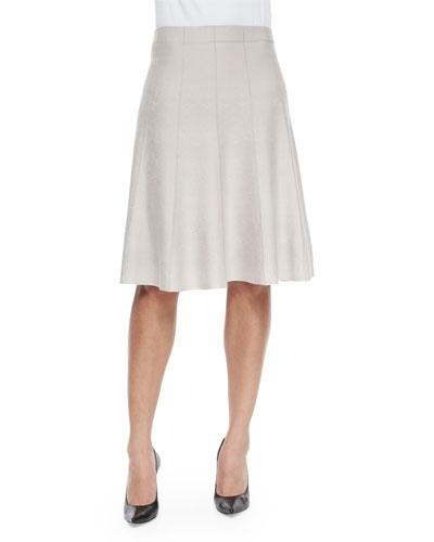 Paneled Twirl Skirt  Silver Cloud