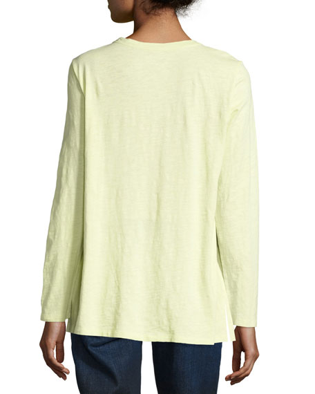 Long-Sleeve Slubby Organic Jersey Top
