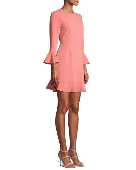 Bell-Sleeve Jersey Cocktail Dress