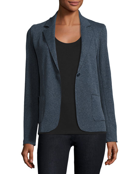Majestic Paris for Neiman Marcus Cotton/Cashmere Knit Blazer