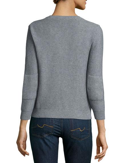 Crewneck Chunky Needlepoint Sweater