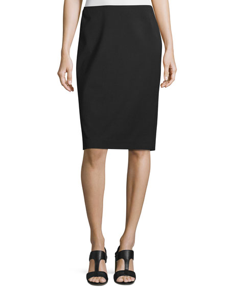Lafayette 148 New York Mid-Rise Wool Pencil Skirt