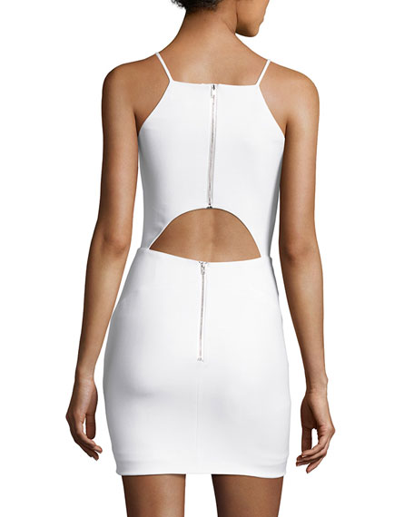 Lane Sleeveless Cutout-Back Mini Dress