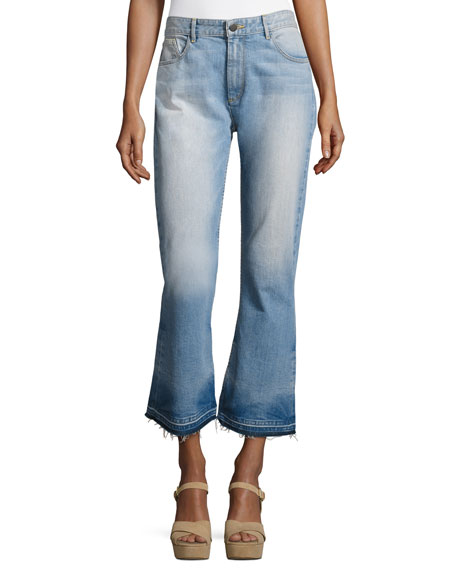Alice + Olivia Tasha High-Waist Cropped Jeans with
