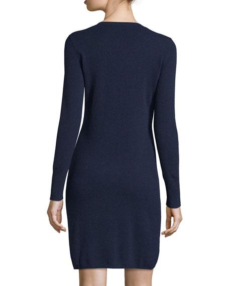 Cashmere Crewneck Sweater Dress