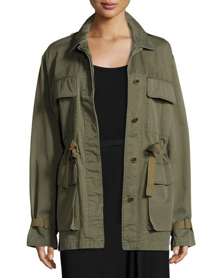 Thornwood Washed Chino Coat, Green