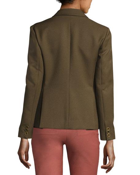 Theory Lackman Prospective Safari Jacket Green And