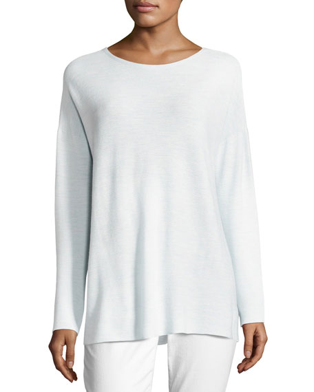 Long-Sleeve Seamless Featherweight Box Top, Petite
