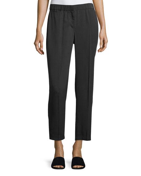 Woven Tencel® Ankle Trousers