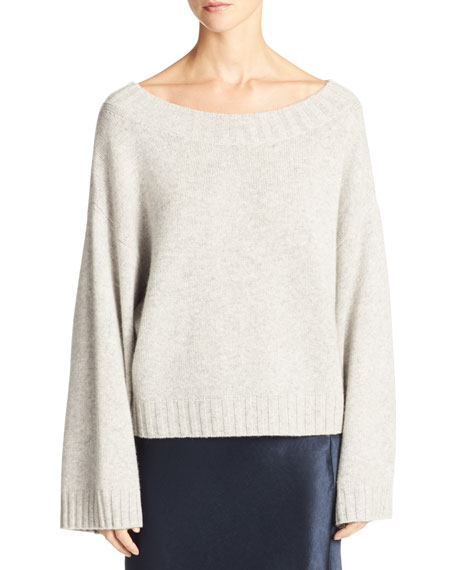 Cashmere Boxy Pullover Sweater