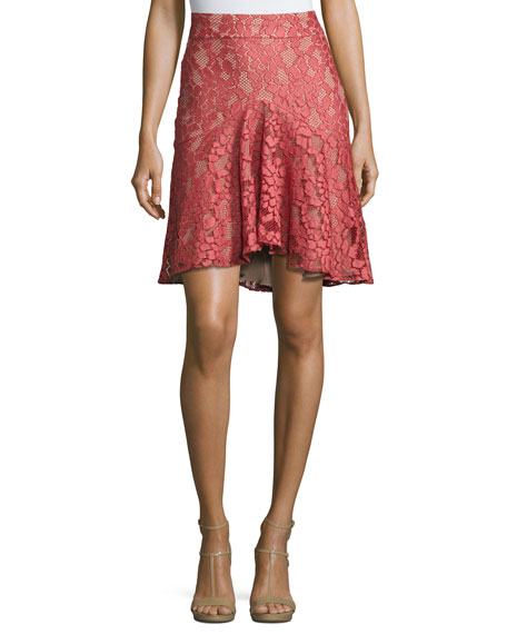 Alexis Braxten Lace Flared Godet Skirt