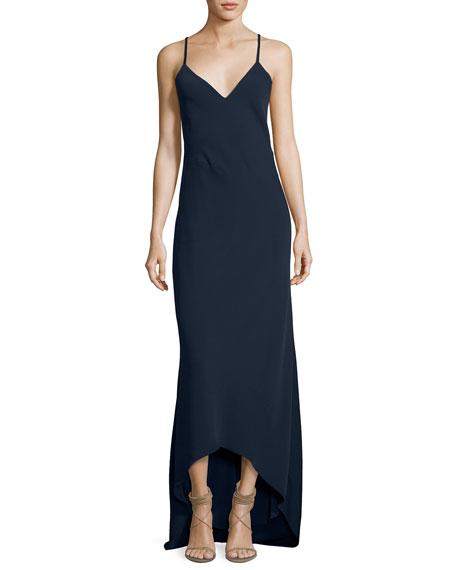 Alice + Olivia Bredes Scoop-Back Maxi Slip Dress,