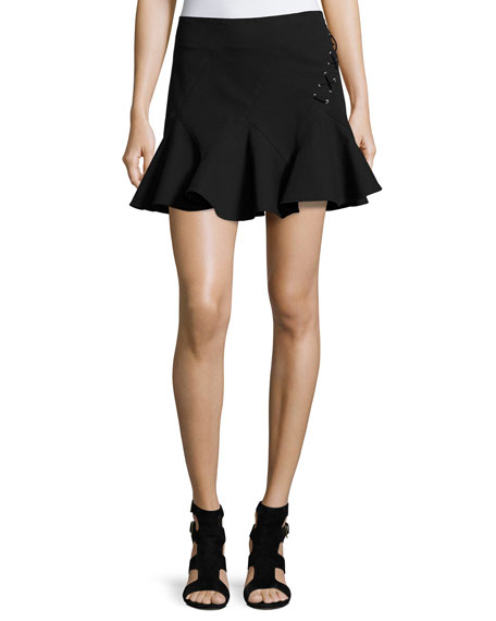 Stretch Jersey Fit-and-Flare Mini Skirt