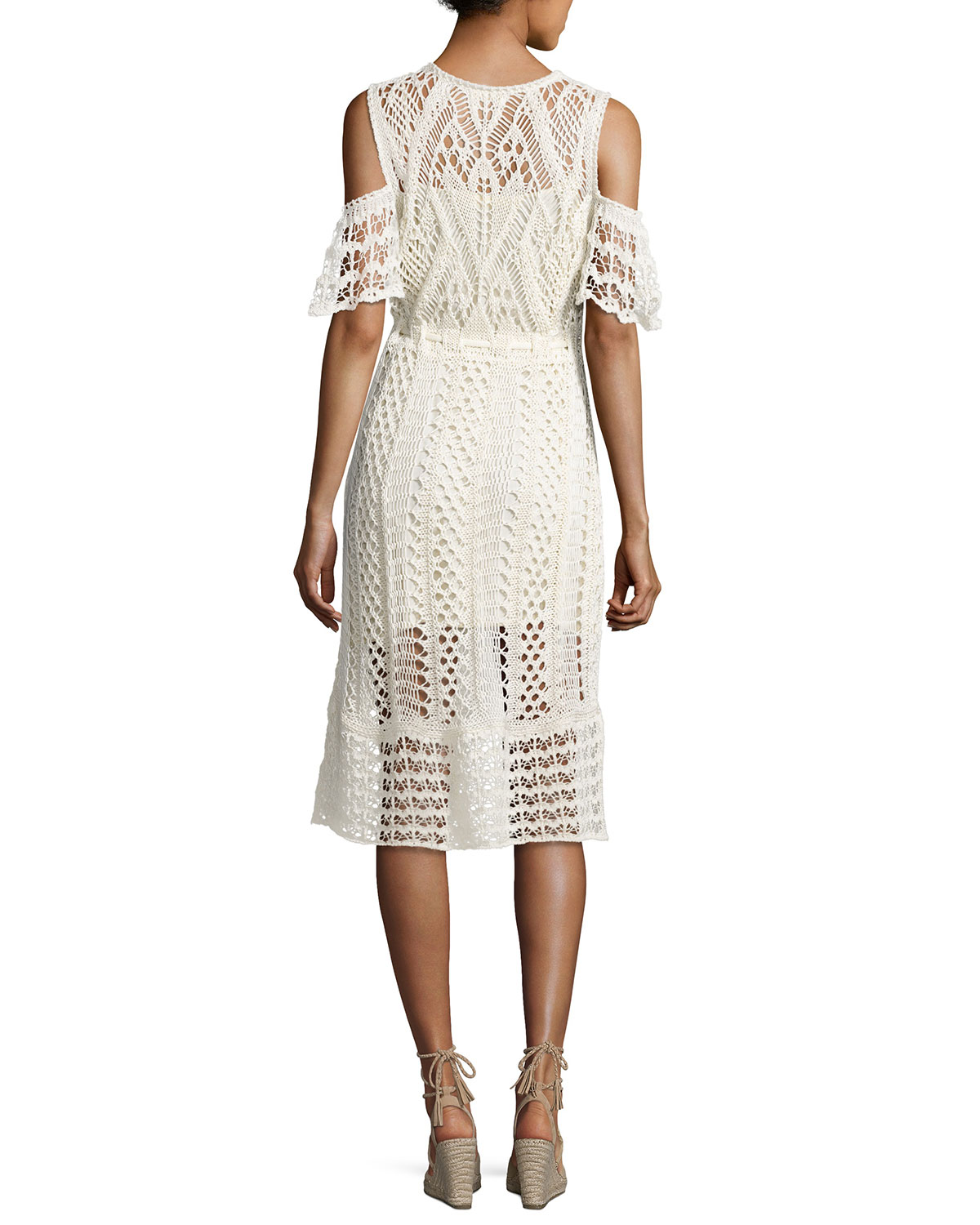 Cheap Sale Ebay See By Chloé Woman Cold-shoulder Macramé Cotton Dress White Size S See By Chloé Free Shipping Really Buy Cheap Cheapest Price Great Deals Online X9VxVkjcd