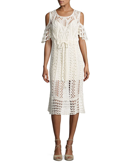 See By Chloé Woman Cold-shoulder Macramé Cotton Dress White Size L See By Chloé Sneakernews Clearance Reliable Sale With Mastercard For Sale Free Shipping vKYne2jOpe