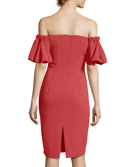 Off-the-Shoulder Sweetheart Cocktail Dress