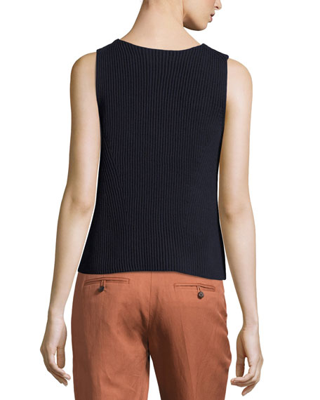 Boxy Cotton Rib Tank Top