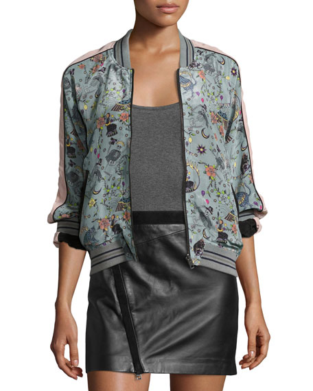 Billy Circus Reversible Bomber Jacket, Gray