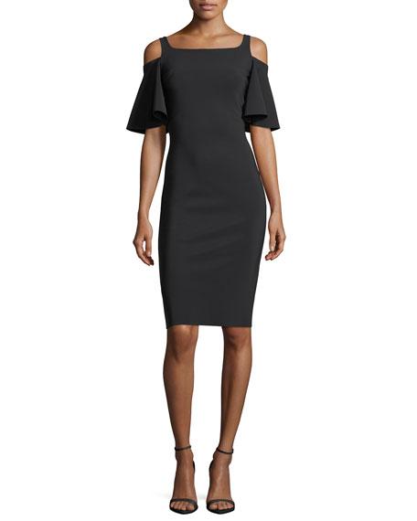 Lupe Cold-Shoulder Jersey Cocktail Dress