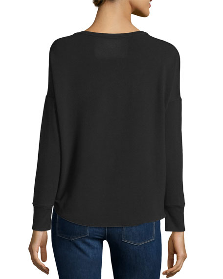 Majestic Paris for Neiman Marcus French Terry Long-Sleeve Top