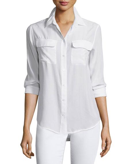 Equipment Slim Signature Long-Sleeve Shirt