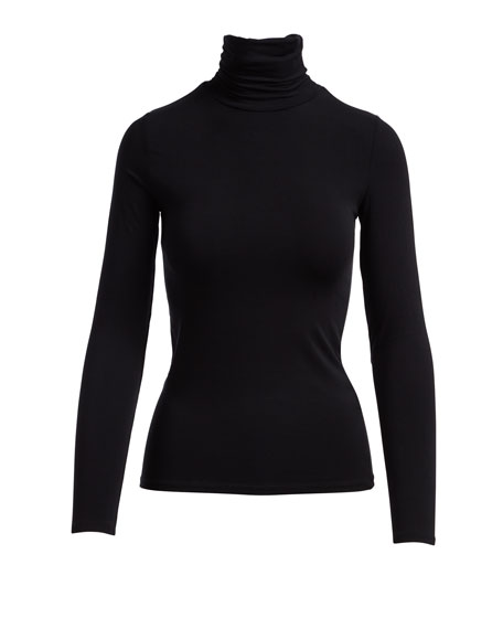 Image 5 of 5: Majestic Filatures Soft Touch Long-Sleeve Turtleneck