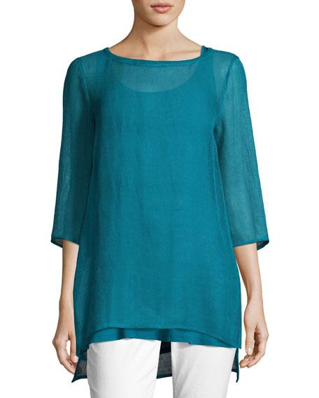 Missy Organic Linen Mesh Tunic