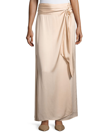 Elizabeth and James Almeria Wrap-Tie Maxi Skirt W/