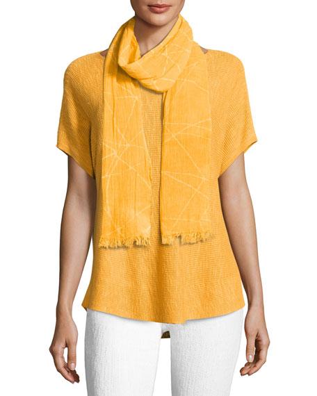 Short-Sleeve Boat-Neck Linen/Cotton Box Top, Petite