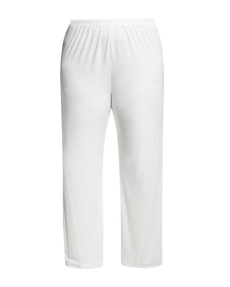 Plus Size Stretch-Knit Straight-Leg Pants