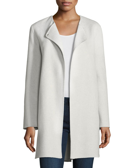 Luxury Double-Faced Curved Cashmere Coat