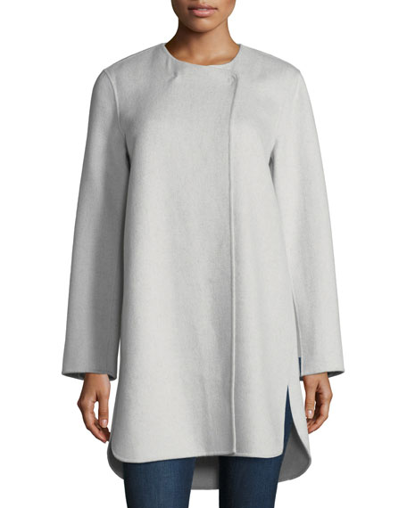 Neiman Marcus Cashmere Collection Luxury Double-Faced Curved