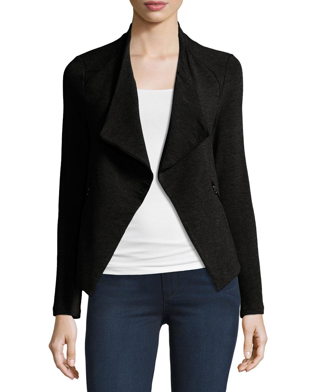 lerner jacket products f drapes contemporary women draped black s asymmetrical david womens